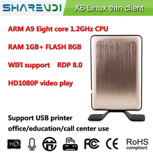 Sharevdi fanless thin client Octa-core X6,support full screen1080P HD video