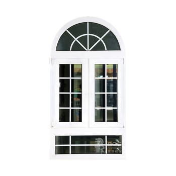 modern casement window aluminum Alloy Frame Material and Swing Open Style arch window grill design