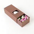 Custom made craft paper slide box gift packaging with drawer