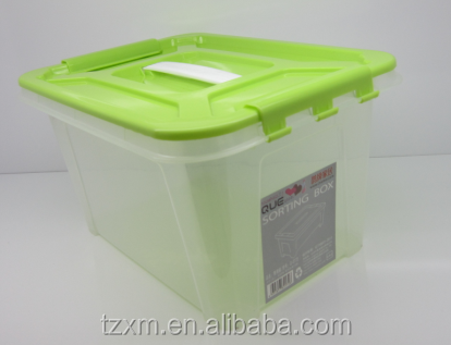 8L Handle PP plastic clear case with lid and handle