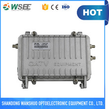 Outdoor CATV cable trunk distribution amplifier
