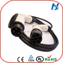 Female to male / IEC62196 to sae j1772 plug/waterproof male to female power cable electric car charger adapter