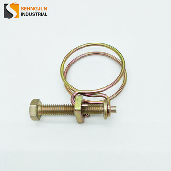 china manufacturer hardware metal galvanized double wire hose clamp