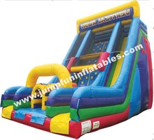 2 in 1 Inflatable slide and climbing wall combo interactive inflatable