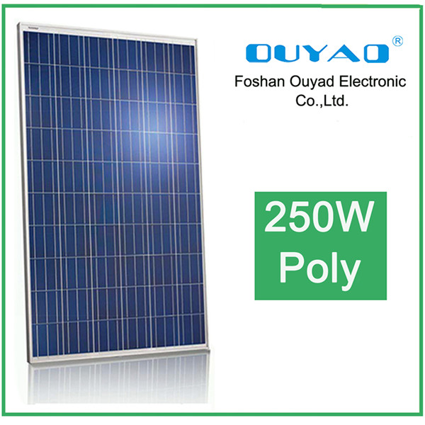 High efficiency polycrystalline 24v pv model 250w solar panel with 25years warranty