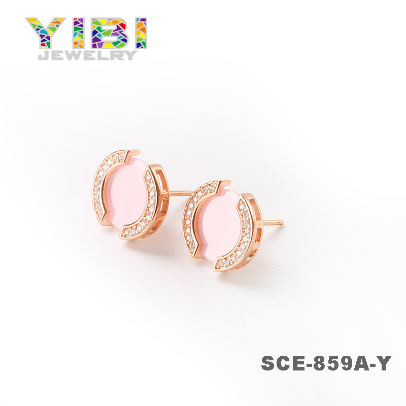 Tops Design New Model Women Accessories Dubai Gold Handmade Stud Earrings