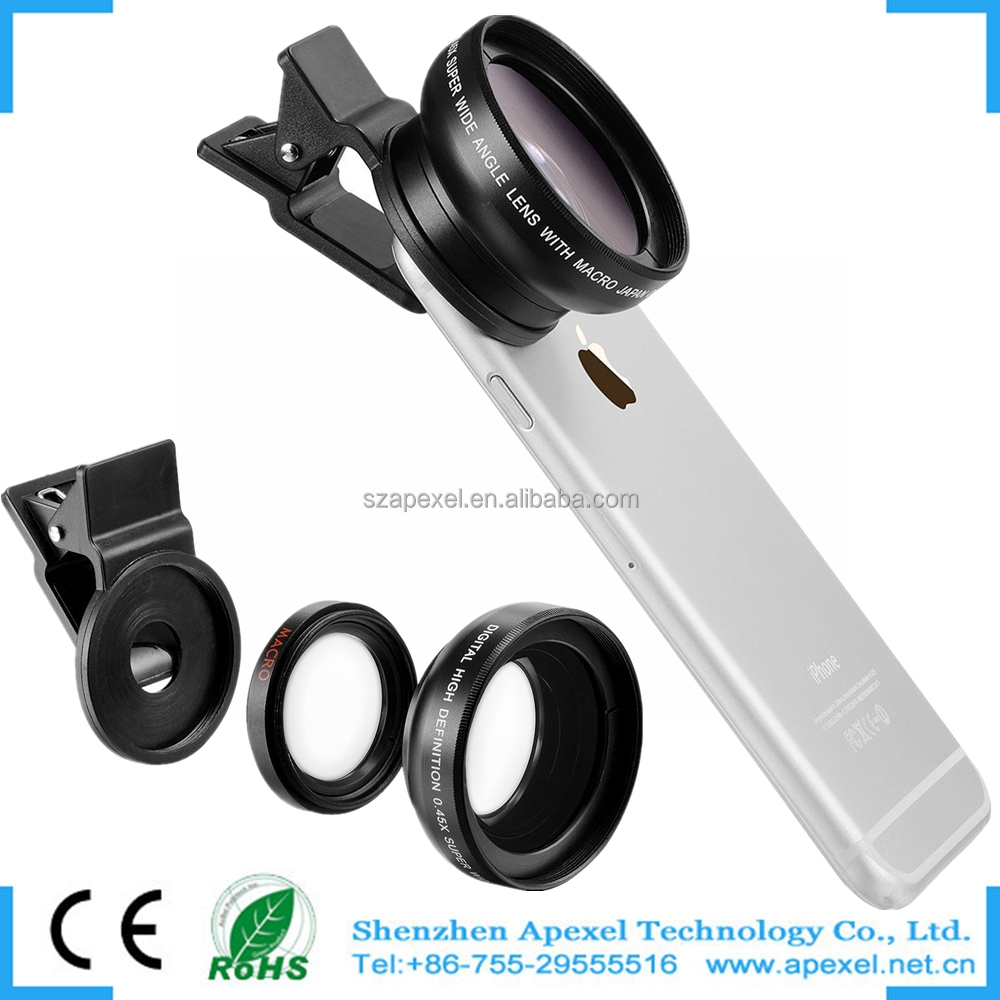 2016 newest attachment for glasses digital solar fresnel 0.45x wide angle camera cover mobie lens