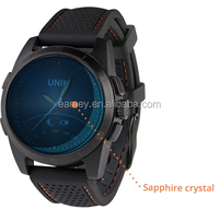 Fashion mens stainless steel luxury smart watch for android smart phones