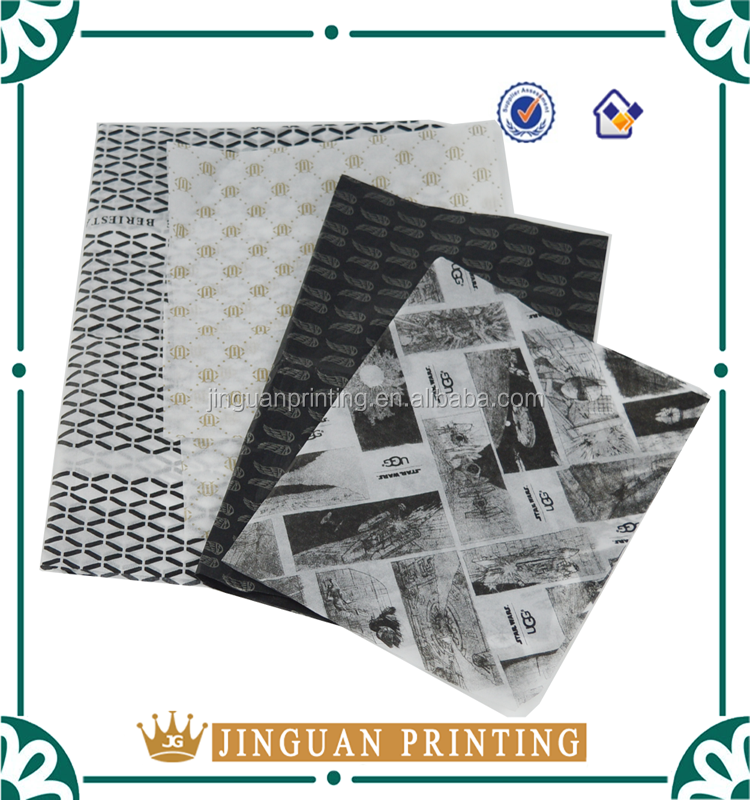 custom logo printed gift wrapping tissue paper