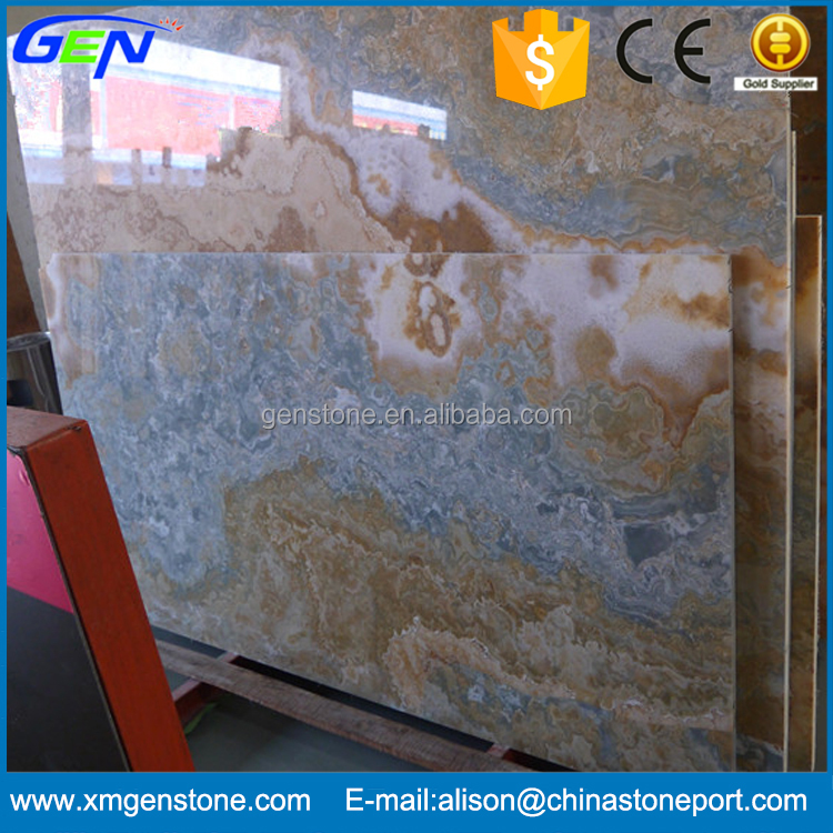 Factory Directly Sale Natural Blue Onyx Slab
