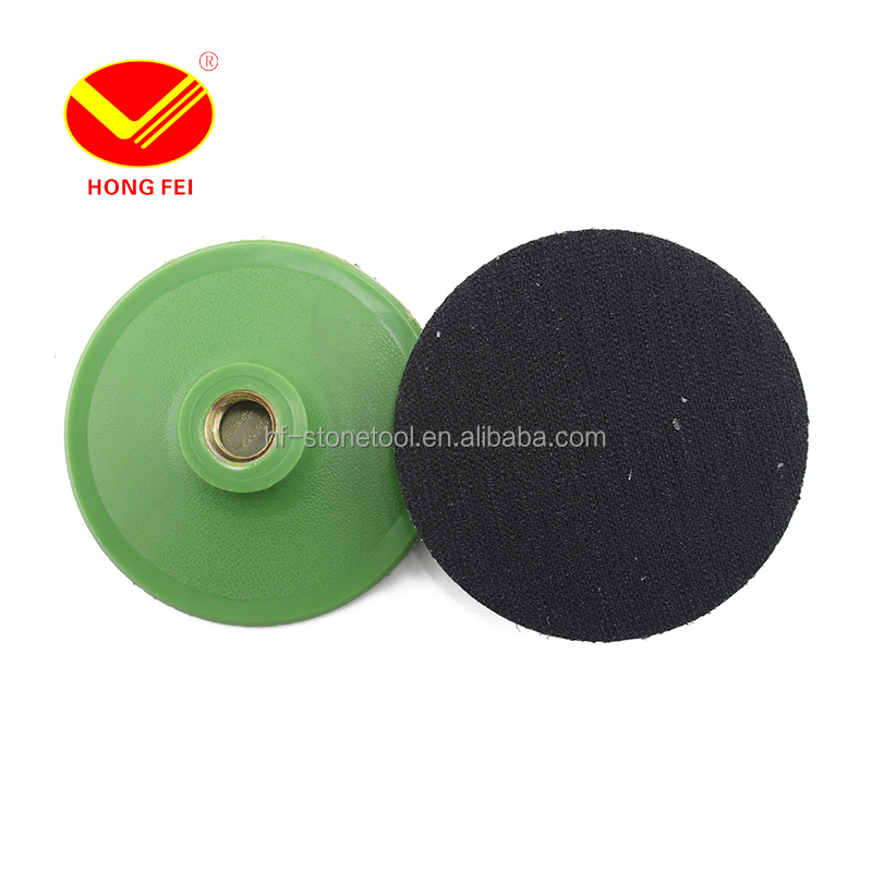 4 inch <strong>100mm</strong> Plastic Polishing Disk For M16 Velro Polisher Bonnet Pad Sanding Pad Power Tool Accessory