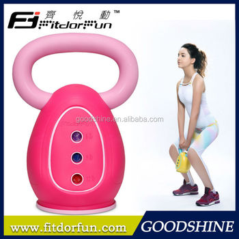 Feva Kettle Bell Factory Price Colored PP Kettle Body Heavy Duty 3 Weights Hand Therapy Exercises Kettle Bell Swings