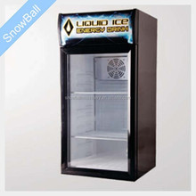80L commercial drinkings display cooler/80L refrigerated cabinet