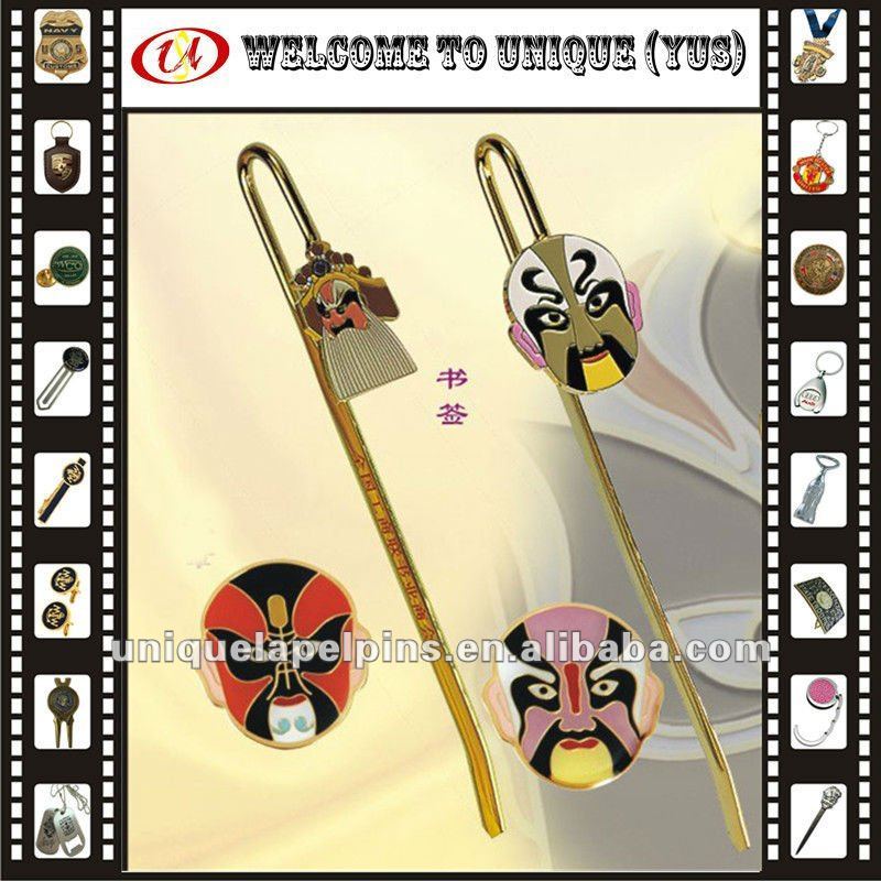 Promotion Beijing Opera facial masks metal bookmark
