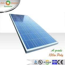 Sunshine 130w Poly A Grade Solar Panel Solar Module for 12V Solar Power System/Street Light/Battery Charging