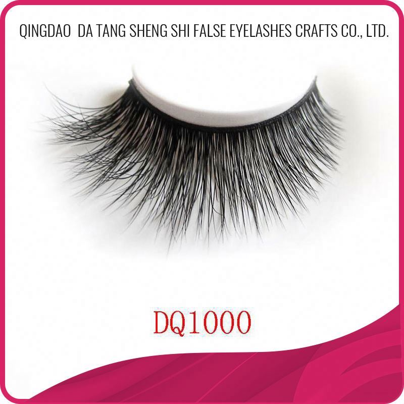 Women comfortable hand made 3d faux mink for strip eyelashes