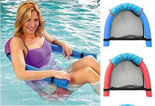 Water Floating Chair Swimming Pool Noodle Sling Mesh Seat