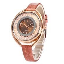 Hot Quicksand Bead Watches Women Fashion Quartz Wrist Ladies Watch Rhinestone PU Leather Women Bracelet Watches