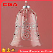 Hanging glass bell design,christmas decoration 2016