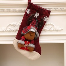 Santa Candy Sock Christmas Decoration Kids Gift Bag Gift Bag