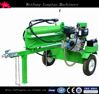 37 Ton Diesel Engine horizontal and vertical automatic hydraulic log splitter