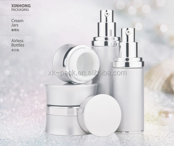 metal material skin care cream/nail container