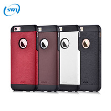 4.7'' Original Vouni Brand Vintage Luxury Real Genuine Natural Cowhide Leather Back Cover Phone Case for iPhone 6 6s
