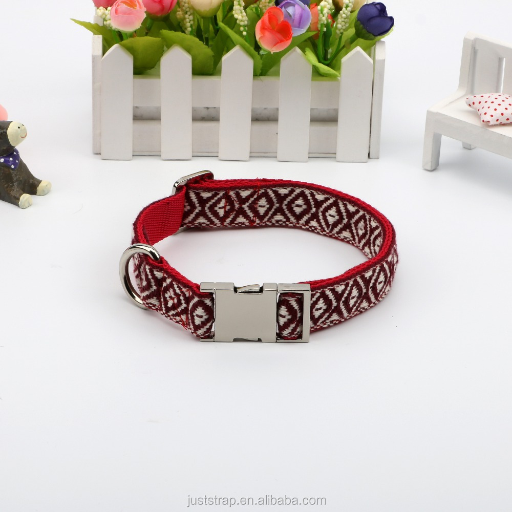Jacquard embroidery dog collar style restoring ancient ways