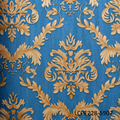 vinyl traditional decorative blue damask wallpaper home decor