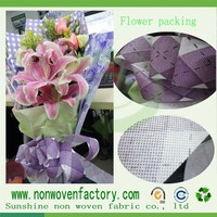 Different kinds color spunbond dot style non-woven fabric for packing flowers