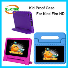Hot selling high quality Shockproof friendly EVA kids proof case for amazon kindle fire HD