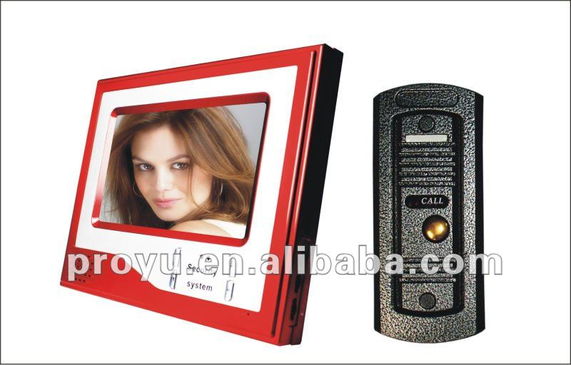 Elegant design intercome 7 inch TFT video door phone for villa with take photo function PY- V7D-M