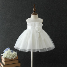 2018 First Communion white Beautiful Dress For Little Girl Baby Clothes Kids Clothing Children girls birthday party dresses