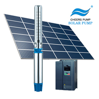 1.6hp~15hp solar water pump system high pressure solar submersible well pump