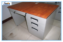 Simple design MDF top metal desktop computer desk table