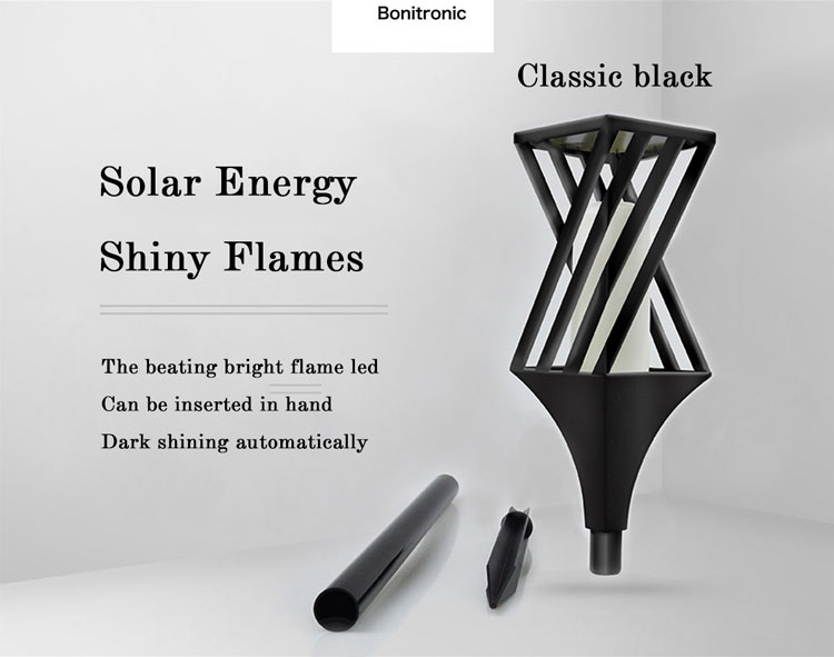 China manufacture with portable size solar outdoor led light Torch Light Outdoor