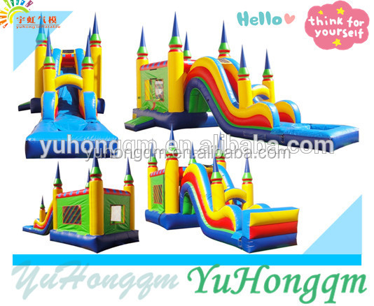 New design durable inflatable bouncer & slide giant inflatable water slide obstacle juegos infatiles inflables