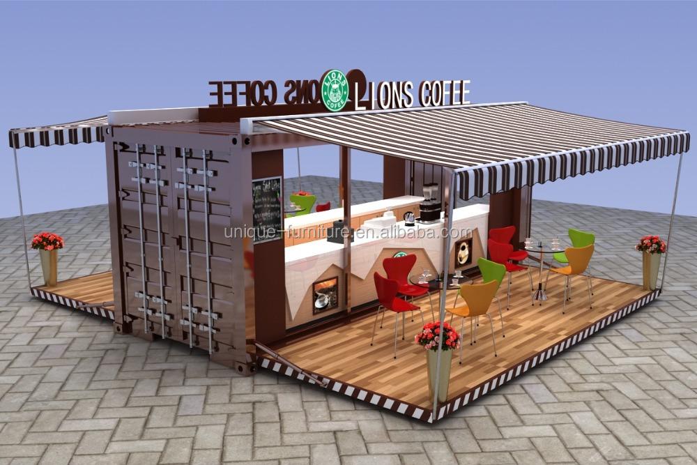 2016 newly made outdoor coffee shop container kiosk design for Coffee shop exterior design ideas