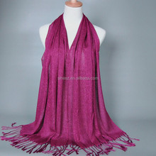 pure color muslim hijab free size long thickness wrap and scarf