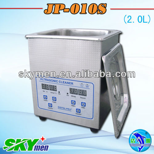 Skymen hot sale SUS304 ultrasonic cleaner JP-010S(2L, 0.5gallon), low price with CE,RoHS certificate