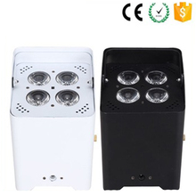 High brightness Led Par Can Light for Wedding 4x12w rgbw Par Wireless Battery Powered Led Uplights