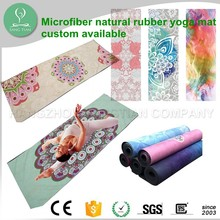 2017 Good Quality Non Slip Eco One Natural Rubber Yoga Mat Printed Design