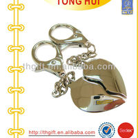 The Metal Heart Shape Keychain With