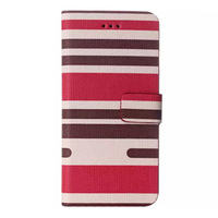 fashion high quality stripe pattern flip leather mobile phone case for iphone 6