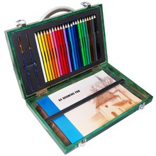 28-piece art creativity set in wooden case art set