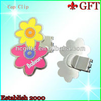 Enamel Flower shape golf Cap Clips metal hat clips GFT-C01240