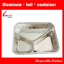 aluminum foil divided food tray