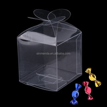 Whoelsale Plastic folding packaging candy sweet boxes for weddings