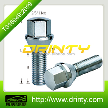 10.9 grade conical seat 17mm hex wheel hub bolt