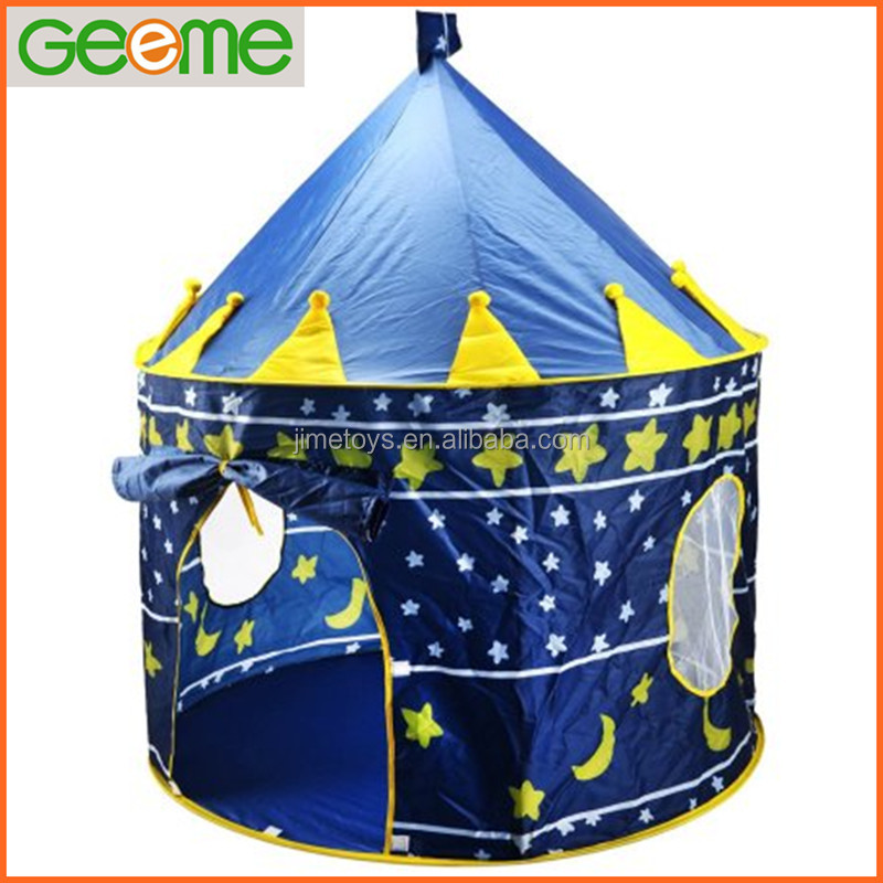 JT011 Child Prince Castle House Foldable Play Tent for Indoor Ourdoor Use